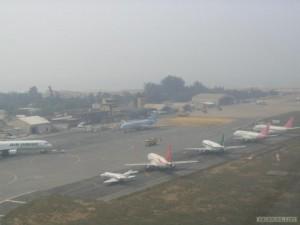 aéroport de Cotonou par temps de brume