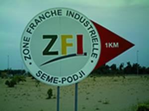 Panneau indicateur de Zone franche industrielle